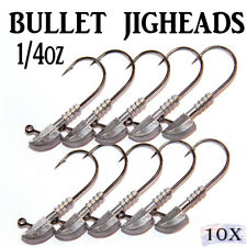 10x 1/4oz Jig Heads Fishing Lures Soft Plastics Bullet Nitro Gulp Stealth bream