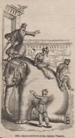 ANTIQUE 1845 PRINT AFRICAN INDIAN ELEPHANT HUNTING SHOOTING SAFARI TUSK GAME 9