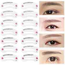 Creative 24 Eyebrow Stencils Shaping Grooming Brow Make Up Set Reusable