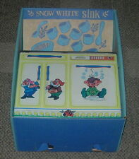 WALT DISNEY'S SNOW WHITE AND THE SEVEN DWARFS  SINK  BOXED  1970'S  WOLVERINE