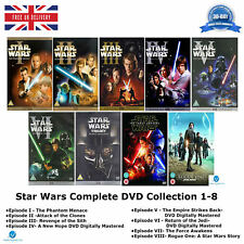 Star Wars 1-8 The Saga Bonus Digitally Mastered Complete Series 1 2 3 4 5 6 7 8