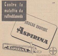 Y3724 Aspirina Bayer - Pubblicità d'epoca - 1937 vintage advertising