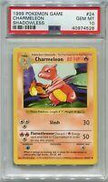Pokemon Card Unlimited Shadowless Charmeleon Base Set 24/102, PSA 10 Gem Mint