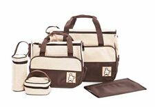 NEW! 5-PIECE BABY DIAPER BAG/ NAPPY BAG (BROWN)