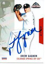 Drew Gagnon 2016 Colorado Springs Sky Sox Signed Card