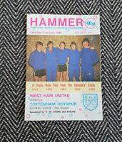 West Ham v Tottenham 1983 Programme 1/1/83! FREE UK POSTAGE! LAST ONE!!!