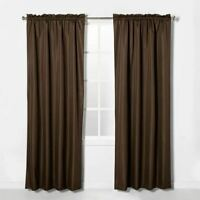 """Eclipse Braxton Thermaback Blackout (1) Curtain Panel Espresso Brown 63"""""""