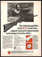 1975 RUGER 10/22 Rimfire Rifle AD Old Gun Advertising