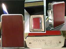 briquet ancien MYON Veda écrin & doc rechargeable gaz desk gas Lighter Feuerzeug