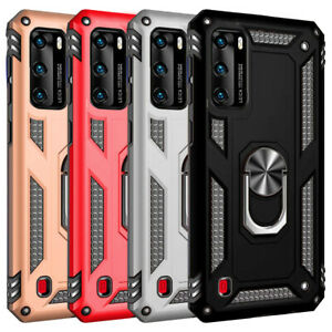 For Huawei P40 Lite P30 Pro Y6 P Smart Z Shockproof Case Ring Stand Armor Cover