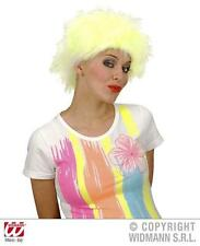 Neon Yellow Wig Funky Raver Nu Rave Disco Messy Hair Fancy Dress
