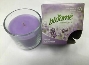 3 x Bloome Scented Candle Wild Lavender 30hrs,Fast & Free Delivery.UK