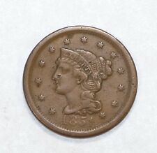 BARGAIN 1851 Braided Hair Large Cent VF (VERY FINE)  1c
