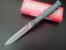 "Stiletto 5"" Titanium Gentleman Folding Pocket Knife LinerLock Thumb Disc RR1859"