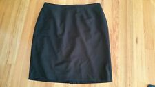 TALBOTS 12WP Black Lined Wool Blend Stretch Suit Skirt Pencil Knee Length VGUC
