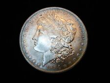 1884 O MORGAN DOLLAR - FULLY LUSTROUS WITH  A HINT OF BLUE &GOLD TONING-MUST SEE