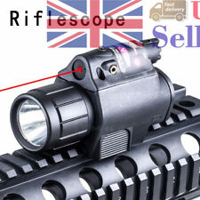 For Airsoft CREE LED Flashlight Torch Mount&Red Dot Laser Sight Scope Hunting