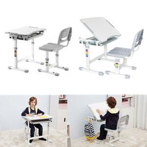 Adjustable Children's Desk & Chair Set Kids Study Table Set Desk, Birthday Gift