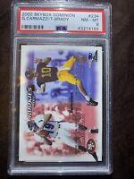 2000 Skybox Dominion # 234 Tom Brady Rookie RC, Patriots Buccaneers, PSA 8 NM-MT