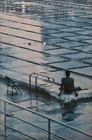 1983 Vintage BRUCE WEBER Semi Nude Male Swimmer Zen Pool Photo Gravure Art 16X20
