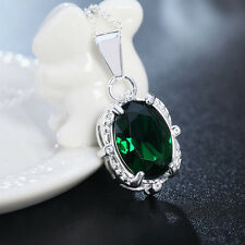 new silver lady wedding green hot Fashion charms crystal women Necklace Jewelry