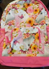 NWT Children's Place Unicorn Backpack Pink Floral Butterflies