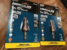 Lot 2 Starter Point Hercules 2pc 3 Cobalt Steel Step Drill Bits Ha22 60 Sealed