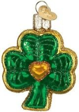 Old World Christmas 36115 Glass Blown Shamrock Ornament