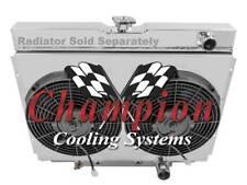 "Ford Mustang Custom Aluminum Radiator Fan Shroud & 2-12"" Fans-16""H x 24 1/4""W"