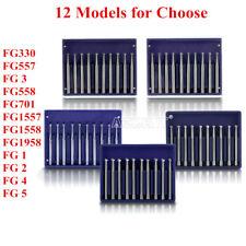 12 Models Dental Tungsten Carbide Bur Fg Round Type For High Speed Handpiece