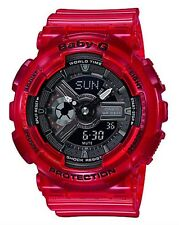 Casio Baby-G * BA110CR-4A Aqua Planet Translucent Coral Red Watch COD #crzycod