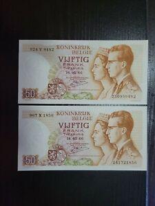 🇧🇪 Belgium 50 francs  16 May 1966  P-139a UNC banknote 071921-10