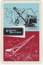 Playing Cards 1 Single Swap Card - Old Vintage RUSTON BUCYRUS Crane EXCAVATOR AD