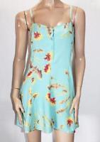 Motel Brand Dandellion Blue Ruby Lace Up Back Dress Size L BNWT #TD47