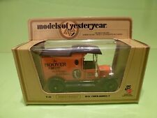 MATCHBOX YESTERYEAR Y-12 FORD MODEL T 1912 - HOOVER - EXCELLENT IN BOX