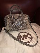 Micheal Kors Python Skin Leather Tote