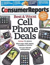 Consumer Reports Magazine January 2010 Cell Phones Toaster Ovens Cars