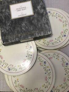 CLOVERLEAF Traditional Table mats SUMMER CHINTZ 24cm ROUND x8 Mats - PLEASE READ