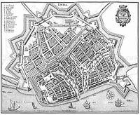 MAP ANTIQUE MERIAN 1647 EMDEN CITY PLAN OLD LARGE REPLICA POSTER PRINT PAM1075