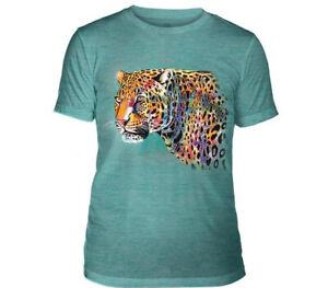Mountain Adult Tri-blend T-shirt Painted Cheetah