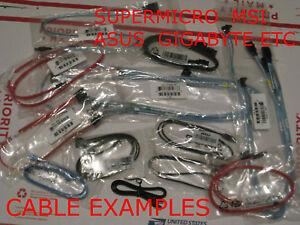 NEW Mixed Bulk Pack Lot 20 SATA Cables SATA3 6GBPS | ASUS MSI GIGABYTE n More