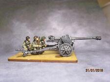 20mm Britannia Miniatures WW2 German 75mm pak 40 A/T Gun & 3 crew  painted