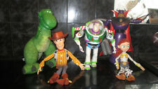 TOY STORY TALKING FIGURES X5 WOODY BUZZ REX ETC DISNEY VGC