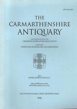 THE CARMARTHENSHIRE ANTIQUARY (2000) FARM BUILDINGS - ROMAN - CABINET MAKING
