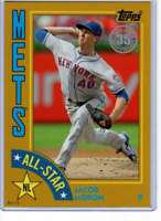 Jacob deGrom 2019 Topps 1984 Topps All-Stars Oversize 5x7 Gold #84AS-JD /10 Mets