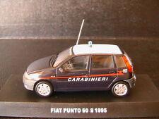 FIAT PUNTO 60S 1995 CARABINIERI DEAGOSTINI 1/43 POLIZIA BLUE BLEU LHD