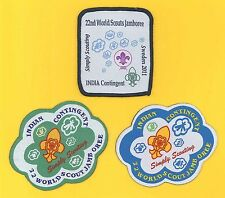 2011 World Scout Jamboree INDIA BOY SCOUTS & GIRL GUIDES Contingent Patch  SET