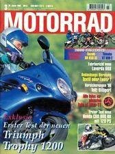 M9603 + TRIUMPH Trophy 1200 + Gebrauchtkauf YAMAHA TDM 850 + MOTORRAD 3 1996