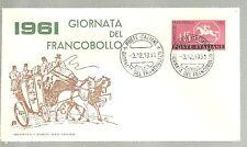 ITALIA BUSTA PRIMO GIORNO 1961 G.  FRANCOBOLLO ANNULLO SPECIALE FIRENZE    FDC