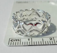 size 8 Sterling Silver Music 20x8mm Treble Clef on 2.5mm band Ring
